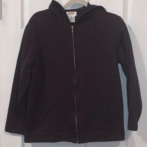 Talbots medium hooded cotton jacket
